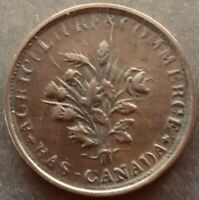 Lower Canada Montreal Bouquet Sous Agriculture & Commerce Token NICE AU FREE SH