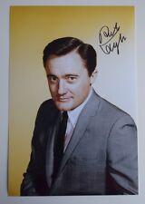 Robert Vaughn SIGNED 12x8 Photo Autograph TV Man From Uncle AFTAL COA