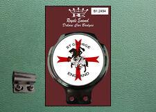 Royale Classic Car Badge & Bar Clip St GEORGE & DRAGON ENGLAND Mod Vespa B1.2494