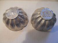 Lot of Two (2) Vintage Aluminum Mini Jello JELL-O Cake Fluted Bundt Molds