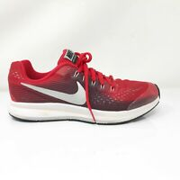 Nike Boys Zoom Pegasus 34 881953-600 Red Running Shoes Lace Up Size 7Y