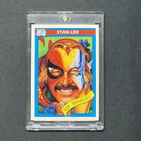 Stan Lee Mr Marvel 1990 Marvel Universe Rookie RC Card GREAT CENTERING PSA READY