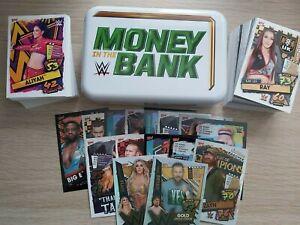 Topps WWE Slam Attax 2021 150 card bundle + 1 MITB empty Tin + 2 Ltd Editions