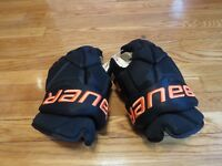 "Very Lightly Used Bauer Vapor 1X Pro Stock Flyers Third Style 14"" Hockey Gloves!"