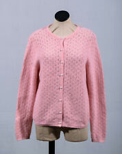 Rafaella Pink Angora Wool Long Sleeve Button Down Cardigan Sweater Sz M