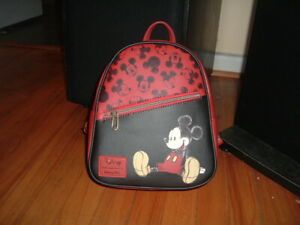 LOUNGEFLY DISNEY MICKEY MOUSE MINI BACKPACK~ WITH TAGS~BRAND NEW~