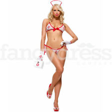 Ladies Sexy 4 Piece Naughty Nurse Lingerie Costume Fancy Dress Valentine UK