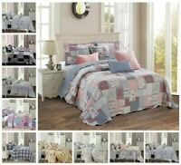 3 PCs Printed Vogue Bedspread Quilted Single,double,King,S King & Pillow Shams