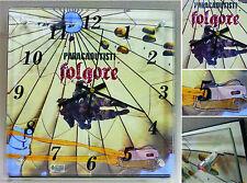 """Orologio da Parete Vetro/Legno """"PARACADUTISTI FOLGORE - IL LANCIO"""" (Mod. 28x28)"""