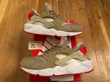 Nike Air Huarache 2014 Mens 11.5 size? tan red scream green W&W Run 91 VNDS USED
