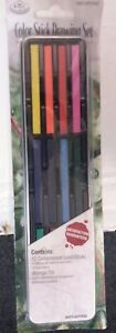 12 X COLOUR STICK DRAWING SET   WITH STORAGE TIN   STATIONERY & SCHOOL EQUIPMENT