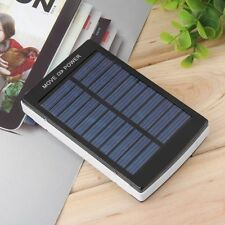 50000mAh Portable Super Solar Charger Dual USB External Battery Power Bank Black