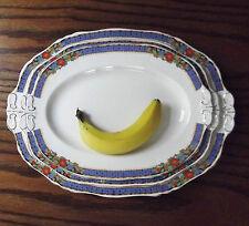 Alfred Meakin 3 oval serving plates platter GENOA Harmony shape 20s 30s Art Deco
