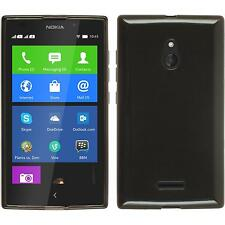 Coque en Silicone Nokia XL - transparent noir + films de protection
