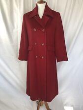Vintage Red Merino Wool Size 4 Women's Trench Coat