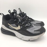 Nike Air Max 270 React (GS) Shoes Black Grey BQ0103-003 Size 6Y