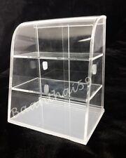 Clear Curved Acrylic Showcase Dollhouse Miniature Display Bakery Cake Shelf Shop
