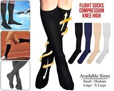 Flight Travel Socks Compression Anti Swelling Fatigue DVT Support Stocking
