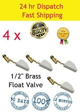 4 X  1/2 FLOAT VALVE SOLID BRASS SAVE!  WATER TROUGH AUTOMATIC HORSE DOG CATTLE