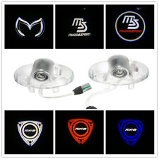 2X Led Door Light Projector Welcome Logo For MAZDA RX8 RX-8 MAZDASPEED CX-9 6 HD