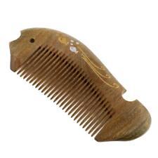 Green Sandalwood Pocket Comb Beard Hair Handmade Natural Wooden Comb Unisex