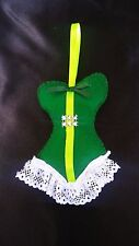 CORSET GRAND DE 12 cm vert,vendu tel que la photo