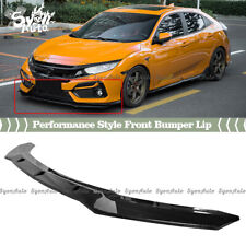 FITS 16-2021 HONDA CIVIC HATCHBACK CARBON FIBER LOOK PERFORMANCE STYLE FRONT LIP