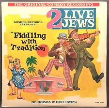 """2 LIVE JEWS """"Fiddling with Tradition"""" SEALED Kosher Records Lp"""