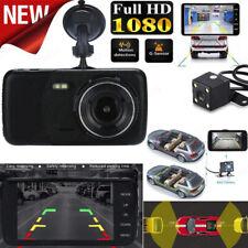 4inch LCD IPS Dual Lens Car Dash Cam FHD 1080P Dashboard Camera 170° Driving DVR