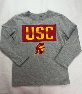 USC Trojans Football Children's Logo Long-Sleeve - Gray - Various Sizes - C355