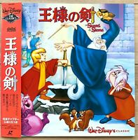 The Sword in the Stone Walt Disney Classic Laser Disc LD OBI Bilingual JAPAN F/S