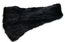 New women 's Fashion /real mink fur knitted Black scarf Size 105*12cm