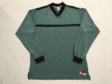 "Nike Men's ""Team Sports"" Green/Gray & Black Ls Crew Neck Pull-Over Shirt, Size L"
