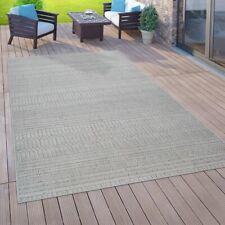 In- & Outdoor-Teppich Für Balkon Terrasse, Flachgewebe, 3-D Ethno-Look, In Grau