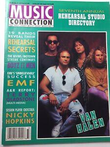 MUSIC CONNECTION 1991 VAN HALEN Boys II Men EMF Trade Magazine Xlnt Condition