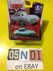Disney Pixar Cars Jumpstart J. Ward Diecast, British Jaguar E-Type New (FB01)