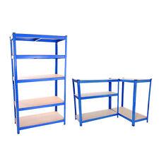 Metal Shelving Industrial Boltless Racking Garage Heavy Duty Shelf Bay 5 Tier 1x Blue Unit