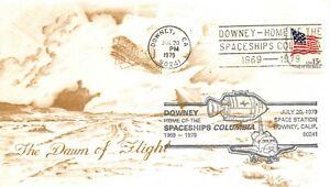 10th ANNIVERSARY APOLLO 11 DAWN OF FLIGHT DOWNEY, CA CACHET 7/20/79 -  SC# 1597