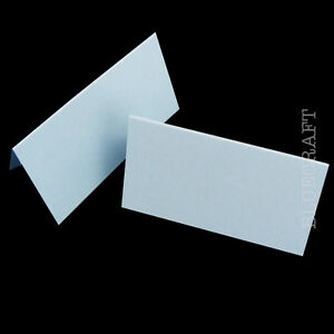 50 x Place Name Cards Party Blanks Pastel Blue 240gsm