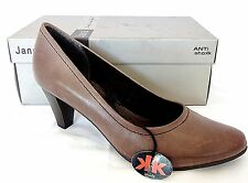 JANA LADIES ANTI SHOCK DESTRESSED BROWN LEATHER COURT SHOES WOMANS UK 6.5