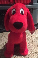 Large CLIFFORD BIG RED DOG Kohls Cares for Kids Plush TAG & BLACK COLLAR