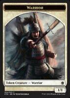 4 Warrior Token ( Pike) - M-NM - Khans of Tarkir - SPARROW MAGIC - mtg 4x x4