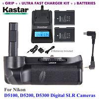 Battery Grip, EN-EL14 Battery, Charger for Nikon D5100, D5200, D5300 Digital SLR