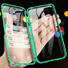 360°Magnetic Metal Case Double Glass Cover For iPhone 12 Pro Max Mini 11 XS XR 8