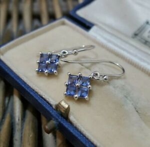 Natural Bengal Iolite Sterling Silver Earrings, New with tag  Gems tv, Dangle