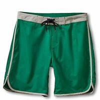 Kavu Men's Nacheito Board Shorts Swim Trunks Evergreen Green Size Large