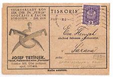 AR51 AUSTRIA Bohemia Plzeň Pilsen Advert Postcard. Original Folded out contents