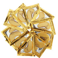 50pairs Crystal Gold Collagen Under Eye Patches Mask DARK CIRCLES BAGS WRINKLES