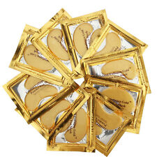 50pcs Premium Crystal Collagen Gold Powder Eye Mask Face Pad Anti Ageing Wrinkle