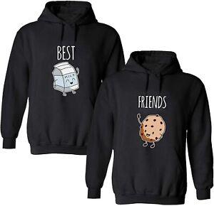 BFF Beste Freunde Hoodie Set COOKIE & MILK Pullover Kapuze Best Friends Sister